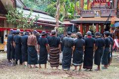 Traditionell begravning i Tana Toraja Royaltyfri Fotografi