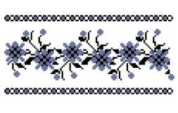 Traditionell blom- broderi royaltyfri fotografi