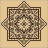 Traditionell blom- prydnad - modell Royaltyfri Bild