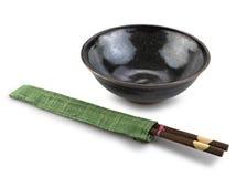 traditionell bordsservis för asia bunkepinnar Arkivbild