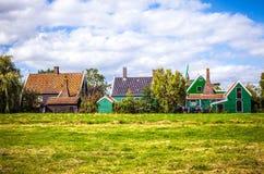 Traditionell bostads- holländsk byggnadsnärbild Arkivfoton