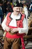 Traditionell bulgariankläder Fotografering för Bildbyråer