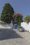 Traditionell byggnad i Tunis Arkivfoto