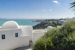 Traditionell byggnad i Tunis Royaltyfria Bilder