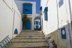 Traditionell byggnad i Tunis Royaltyfri Fotografi