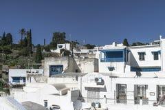 Traditionell byggnad i Tunis Royaltyfri Bild
