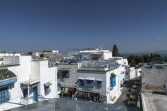 Traditionell byggnad i Tunis Fotografering för Bildbyråer
