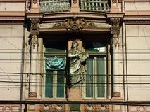 Traditionell byggnad i Valparaiso, Chile royaltyfri fotografi