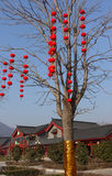 Traditionell byggnad på den Shaolin templet Fotografering för Bildbyråer
