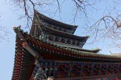 Traditionell byggnad på den Shaolin templet Arkivbild