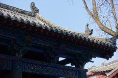 Traditionell byggnad på den Shaolin templet Arkivbilder