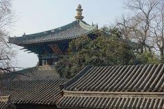 Traditionell byggnad på den Shaolin templet Royaltyfria Foton