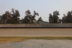 Traditionell byggnad på Guan Yu Temple Arkivfoton