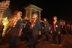 Traditionell ceremonimånförmörkelse Arkivbild