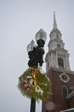 Traditionell cristmassgarnering i Boston, USA på December 11, 2016 fotografering för bildbyråer