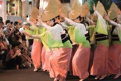 Traditionell dans för japansk kvinna Arkivfoto