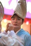 Traditionell dans för japansk kvinna Royaltyfri Foto