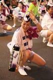 Traditionell dans för japansk kvinna Royaltyfri Bild