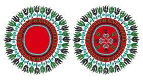 Traditionell Dashiki afrikansk prydnad vektor illustrationer