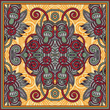 Traditionell dekorativ blom- paisley bandanna Royaltyfri Bild