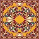 Traditionell dekorativ blom- paisley bandanna Fotografering för Bildbyråer