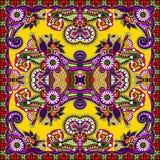 Traditionell dekorativ blom- paisley bandanna Arkivfoton
