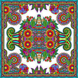 Traditionell dekorativ blom- paisley bandanna Royaltyfria Foton