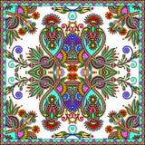 Traditionell dekorativ blom- paisley bandanna Royaltyfri Fotografi