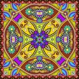 Traditionell dekorativ blom- paisley bandanna Arkivbilder
