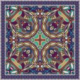 Traditionell dekorativ blom- paisley bandanna Arkivbild