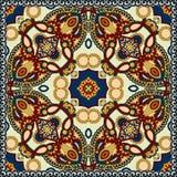 Traditionell dekorativ blom- paisley bandanna Royaltyfria Bilder