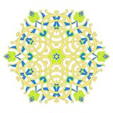 Traditionell dekorativ blom- paisley design Prydnadbakgrund royaltyfri fotografi