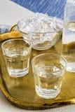 Traditionell drink Ouzo eller Raki royaltyfri fotografi