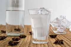 Traditionell drink Ouzo eller Raki royaltyfria foton