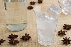 Traditionell drink Ouzo eller Raki fotografering för bildbyråer