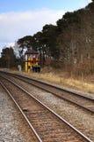 Traditionell engelsk järnväg signalask Royaltyfria Bilder
