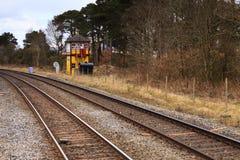 Traditionell engelsk järnväg signalask Arkivbild
