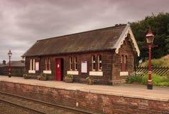 Traditionell engelsk järnväg station Arkivfoton