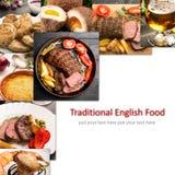 Traditionell engelsk mat arkivbild