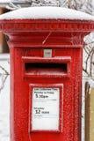 Traditionell engelsk röd stolpeask Fotografering för Bildbyråer