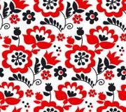 Traditionell europeisk ukrainsk prydnad för röd färg stock illustrationer