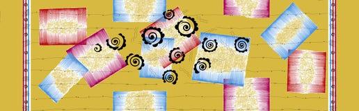 Traditionell f?rgrik abstrakt designbakgrund stock illustrationer