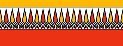 Traditionell färgrik gräns vektor illustrationer