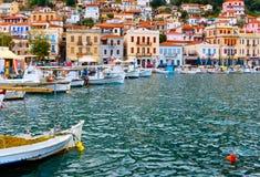 traditionell by för greece gytheio Royaltyfri Fotografi