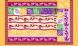 Traditionell f?rgrik abstrakt designbakgrund royaltyfri illustrationer