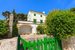 Traditionell ferievilla på den Majorca ön Arkivbilder
