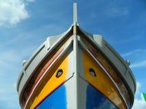 Traditionell fiskebåt i skeppsdockan Arkivfoton