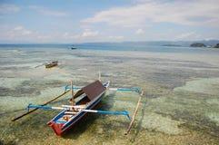 Traditionell fiskebåt Indonesien Arkivfoto