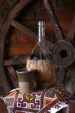 Traditionell flaska av vin Royaltyfria Foton