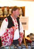 Traditionell folk mässa i heder av helgonet Istvn och det första brödet i Ungern med folk förlage budapest hungary Royaltyfria Foton